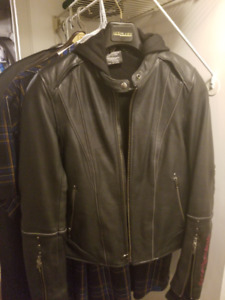 Woman's Harley Davidson black leather jacket