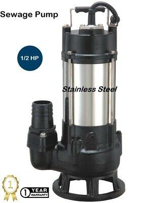 Earthtek Non-clog Sewage Pump 3 Phase 12 Hp 230 Volt