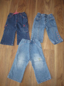 BABY GIRLS JEANS - $6.00 for LOT