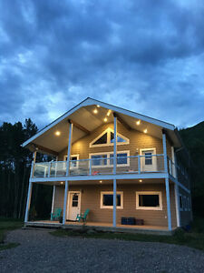 Beautiful house on private acreage with orchard near Chetwynd