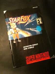 livret mode d'emploi STARFOX SNES instruction booklet