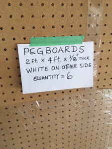 PEGBOARDS 2FT X 4 FT X 1/8 INCH