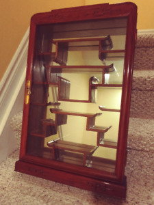 Chinese Rosewood Curio -  Wall Hanging Unit