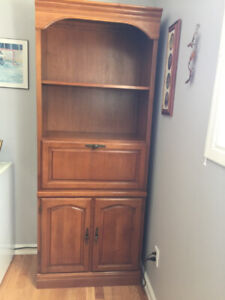 Amazing quality solid Roxton maple wall unit