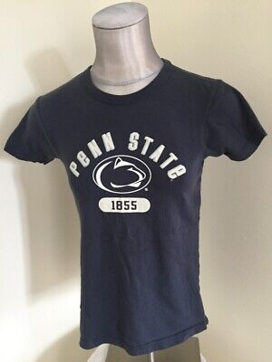 PSU Penn State University Women's T Shirt Petite Small Blue Graphic Tee