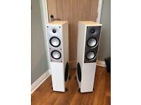Mordaunt Short MS908 floor standing speakers in white