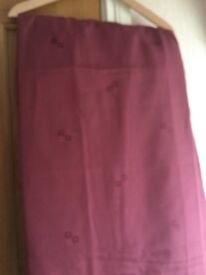 Raspberry curtains