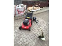 FOR SALE PETROL LAWN MOWER AND STRIMMER