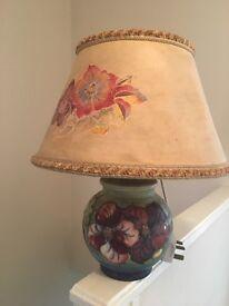 Moorcroft lamp and flower bowl