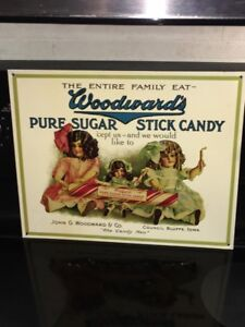 WOODWARD'S PURE SUGAR STICK CANDY ADVERTISING SIGN $30
