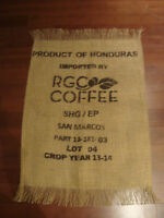Upcycled burlap coffee bag creations