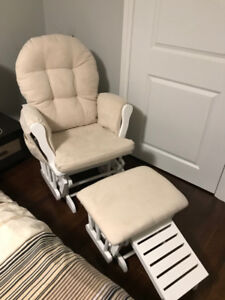 Nursing glider and ottoman
