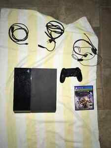 PS4 with controller, Destiny and CoD infinite warfare