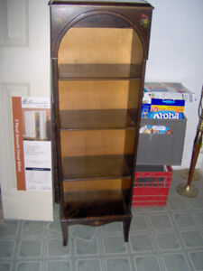 Antique Book shelf Cabinet James A Cole Ingersoll Numbered 977