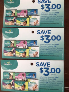 Pampers coupons for trade