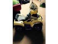 Toddlers electrical quad bike!