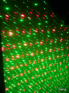 Laser holiday and Party light projection unit