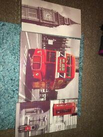 'London' canvas picture sets