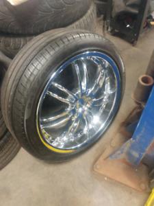 "20"" chrome fast wheels with like new Pirelli tires. 5 bolt"