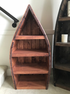 2 Canoe shelving units