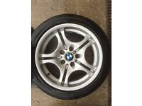 "BMW E46 17"" M sport alloys with tyres"