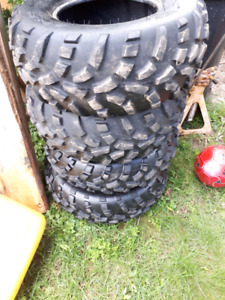 Almost new atv tires only 600 km on them