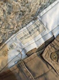 Ralph Lauren men's beige jeans/trousers 34w 34l