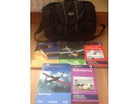 PPL books and flight bag