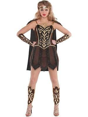 Ladies Gladiator Fancy Dress Costume Xena Warrior Princess 8-16 Roman Spartan