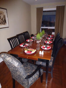 Designer dining table with 8 chairs