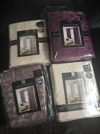 Various packs of curtains