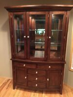China Cabinet, Hutch and Pub Style Table