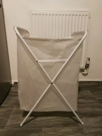 Ikea JALL-Laundry Bag with Stand, white-70 L, 80 cm