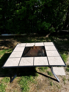 Deck fire table