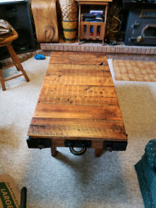 Hand Crafted Rustic Coffee Table (New)
