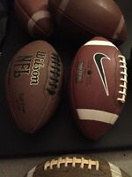 7 Footballs, a mini basketball and a Volley Ball *new price*