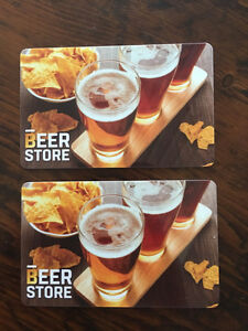 2$50 beer store gift cards