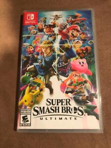 Super Smash Bros Ultimate Nintendo Switch sealed