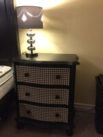 3 drawer dresser side table