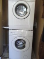 """EXC 24 """" stacking washer dryer"""