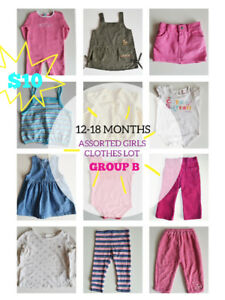 12-18months Assorted Girls Clothes Lot (Group B)