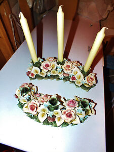 Decorative candle holders $20 each.