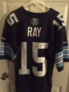 Ricky Ray Autographed Argos Jersey Large