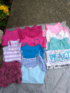 Girls size 10/12 tank shirts 10 in total