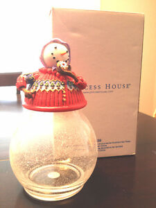 Princess House Christmas Snowman Candy Jar