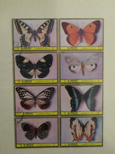 (8) old Butterfly Stamps 1972