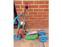 2 Children's outdoor scooters