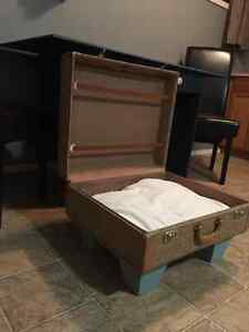 Vintage suitcase  Dog bed / table