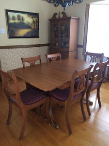 Vintage Duncan Phyfe Style Dining Set
