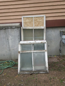 Antique Windows from 1882 with original glass!